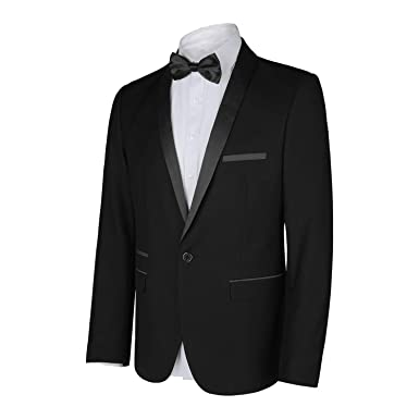 5f4e5c2cac82 WEEN CHARM Men's Shawl Lapel One Button Slim Fit 2 Pieces Suit at ...
