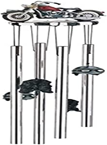 StealStreet SS-G-41002 Wind Chime Round Top Motorcycle Hanging Garden Decoration Windchime