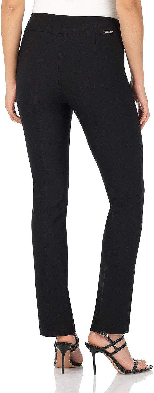 Femme Pantalon Extensible Coupe Droite Facile /à Enfiler Super Amincissant