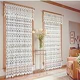 Medallion Curtain Valance 48″x 16″-white For Sale