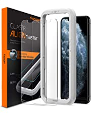 Spigen, 2Pack, iPhone 11 Pro Screen Protector/iPhone XS/X Screen Protector, AlignMaster, Auto-Align Technology, Tempered Glass, FaceID Compatible, iPhone 11 Pro/iPhone XS/iPhone X Tempered Glass