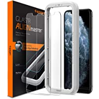 Spigen iPhone 11 Pro MAX/iPhone XS Max Align Master Tempered Glass Screen Protector [2-Pack] with Auto Align Technology - Case Friendly