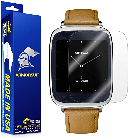 ArmorSuit MilitaryShield - Asus ZenWatch Screen Protector [Full Coverage][2 Pack] Anti-Bubble Ultra HD Shield w/Lifetime Replacements