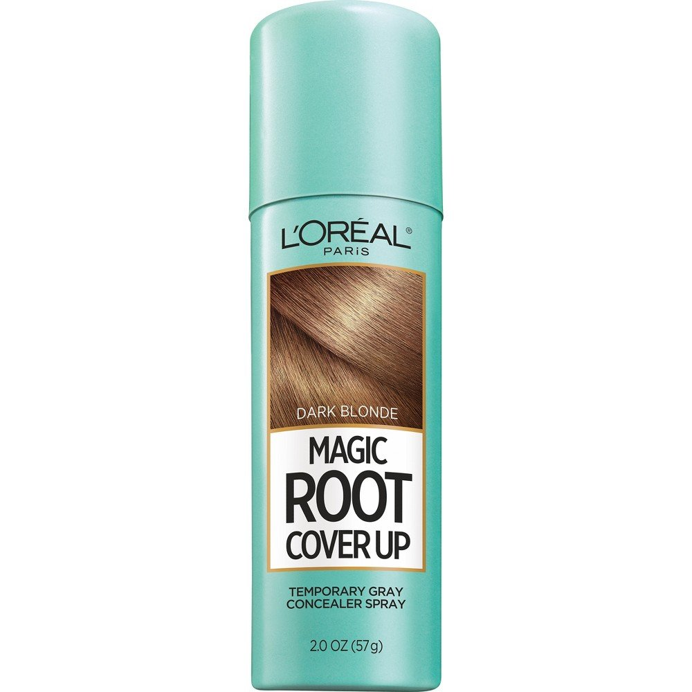 L'Oreal Paris Magic Root Cover Up Gray Concealer Spray, Dark Blonde, 2 oz.(Packaging May Vary)