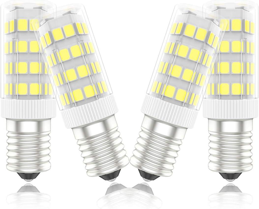 Phoenix-Bombillas LED E14 Campana Extractora,Bombilla Nevera 5W,40W Halógena Equivalente, Blanco Frío 6000K, 450lm,Pack de 4 Unidades: Amazon.es: Iluminación