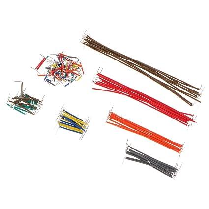 non-brand Sharplace 140pcs Cable de Puente Sin Soldadura para Tablero Caja Transparente Breadboard Alambre