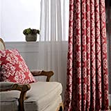 Cheap Red Curtains for Living Room Drapes – Anady Top 2 Panel White Design Pattern Window Curtains Decro Drapes Grommet 84 inch Lenght 2017 New