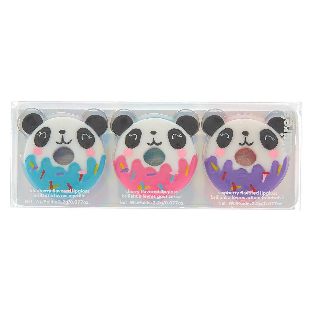Claire's - Femmes Lot de 3 gloss aromatisés Panda-donut Sweetimals Claire' s