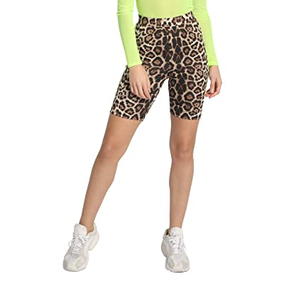 APPROVED by me Leopard Shorts with Neon Stripe: Clothing