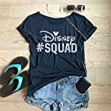 Disney Squad. Eco Friendly Ink Screen Printed. Made To Order. Disney Shirt. Disney Trip T Shirt. Wide Neck. Relaxed Fit. Loose Fit. DO NOT SIZE UP.