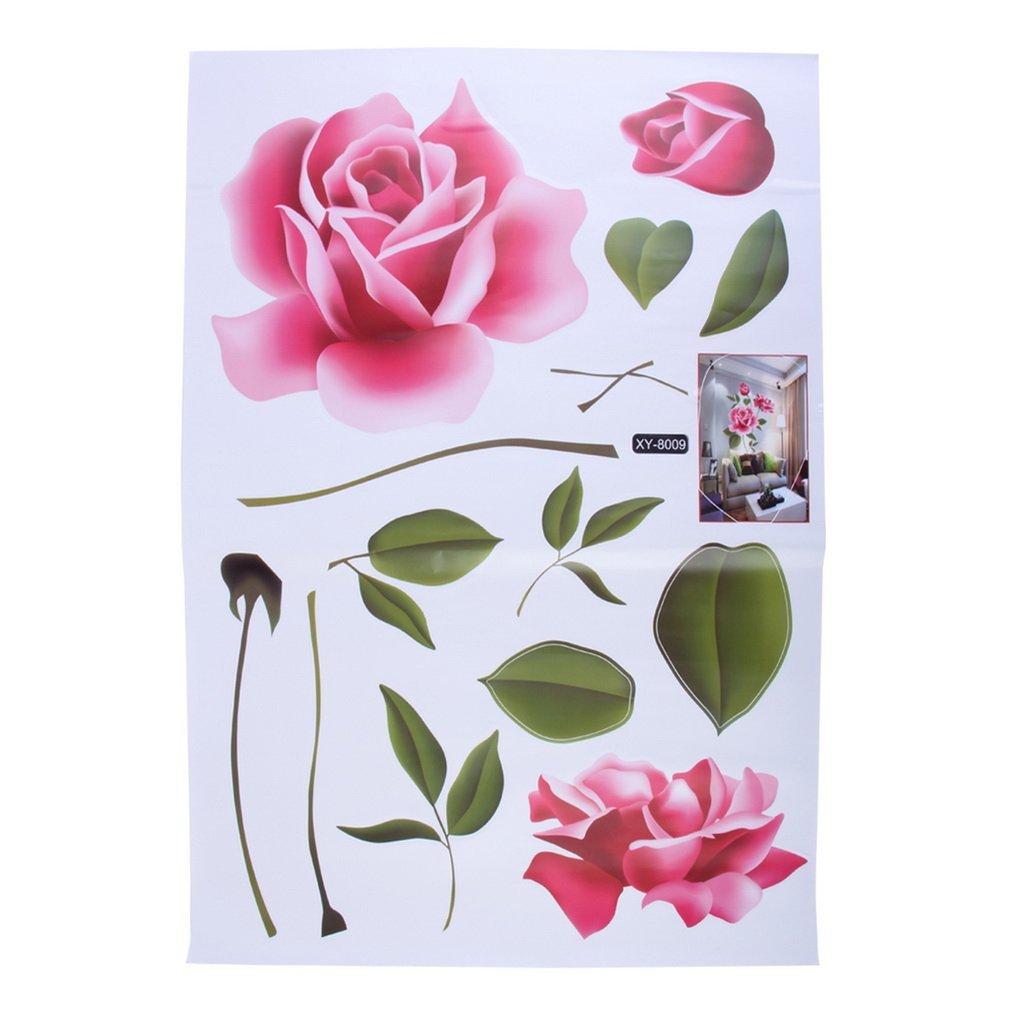 DDGE DMMS - Adhesivo Decorativo para Pared con diseño de Rosas para decoración del hogar
