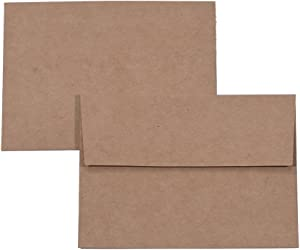 A1 Small Envelope - Mini Brown Kraft Paper Envelopes| Self Sealing |Perfect sized envelopes for personalize gift cards, wedding envelopes or Birthday Party place cards- 5.125 x 3.625 Inches (A1)