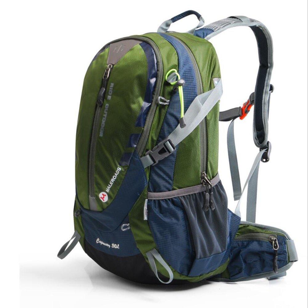 fhgj防水30lキャンプハイキングバックパックリュックサックスポーツバッグアウトドア旅行バックパックTrekk登山バッグ B07D9NPCHT ブルー