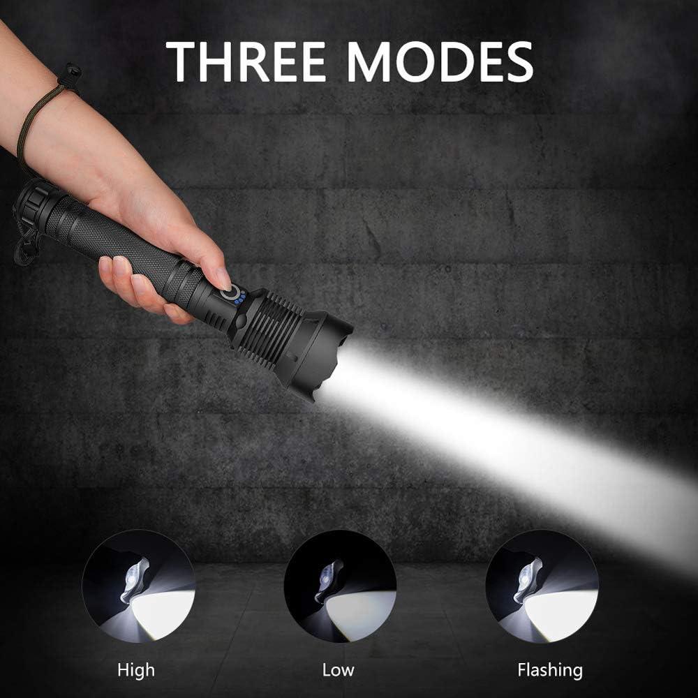 schwarz 150000 Lumen XHP70.2 Most Powerful LED-Taschenlampe USB Zoom Tactical Taschenlampe 18650 oder 26650 Akku Handlicht