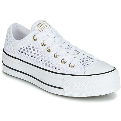 buy popular ff6c7 974fe Converse, CTAS Ox White Black 564873C, Sneakers avec Plateforme pour Femme,  35