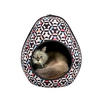 Ibiyaya Gato Cueva Pod para Gatos Indoor también Ideal para hurón y Cachorro Cama: Amazon.es: Productos para mascotas