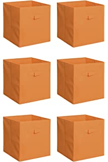 Captivating New Home Storage Bins Organizer Fabric Cube Boxes Shelf Basket Drawer  Container Unit (6,