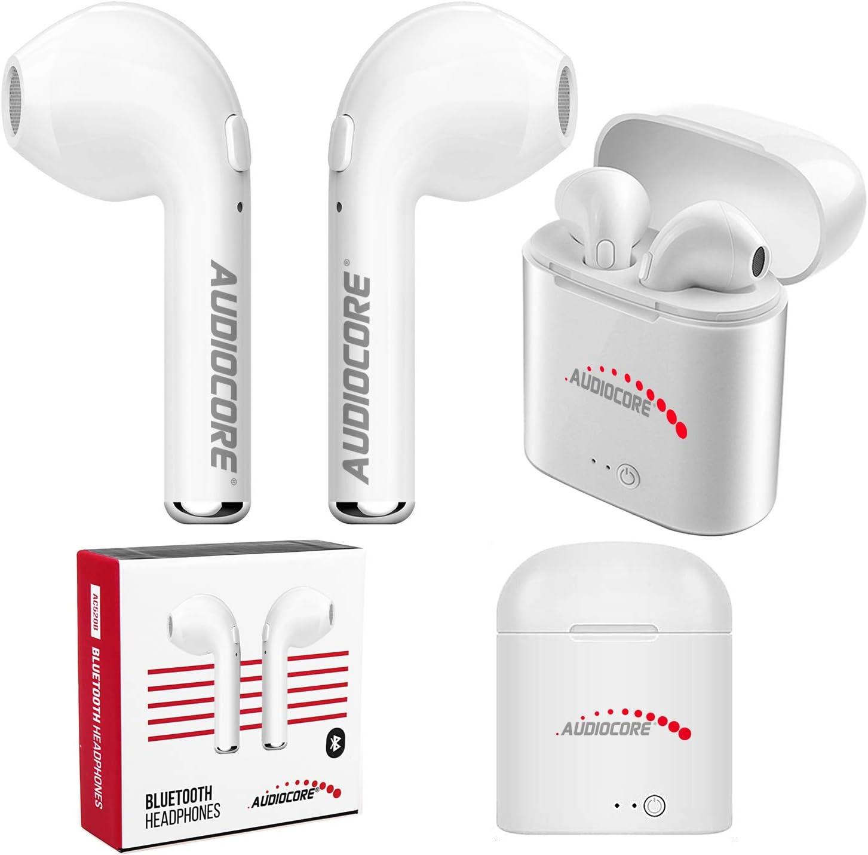 Audiocore AC520 W - Auriculares inalámbricos con Bluetooth y Funda de Carga para TWS (Manos Libres, Bluetooth), Color Blanco