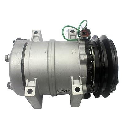 4425700 4456130 Air Conditioning Compressor - SINOCMP Excavator Air Conditioning Compressor Group Refrigerant for Hitachi ZX