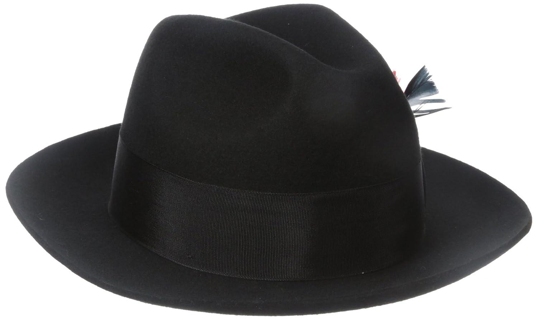 b0023dd4f47aa SCALA Men s Wool Felt Fedora Hat at Amazon Men s Clothing store