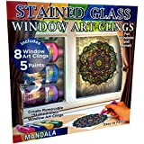 Joy of Coloring Zorbitz, Stained Glass Window Art Cling Kit DIY, 8 Clings