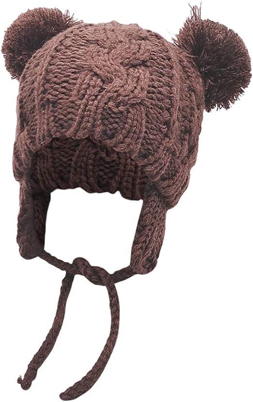 Toddler Baby Kids Winter Hat Soft Wool Warm Earflap Beanie Infant Knit Cap New