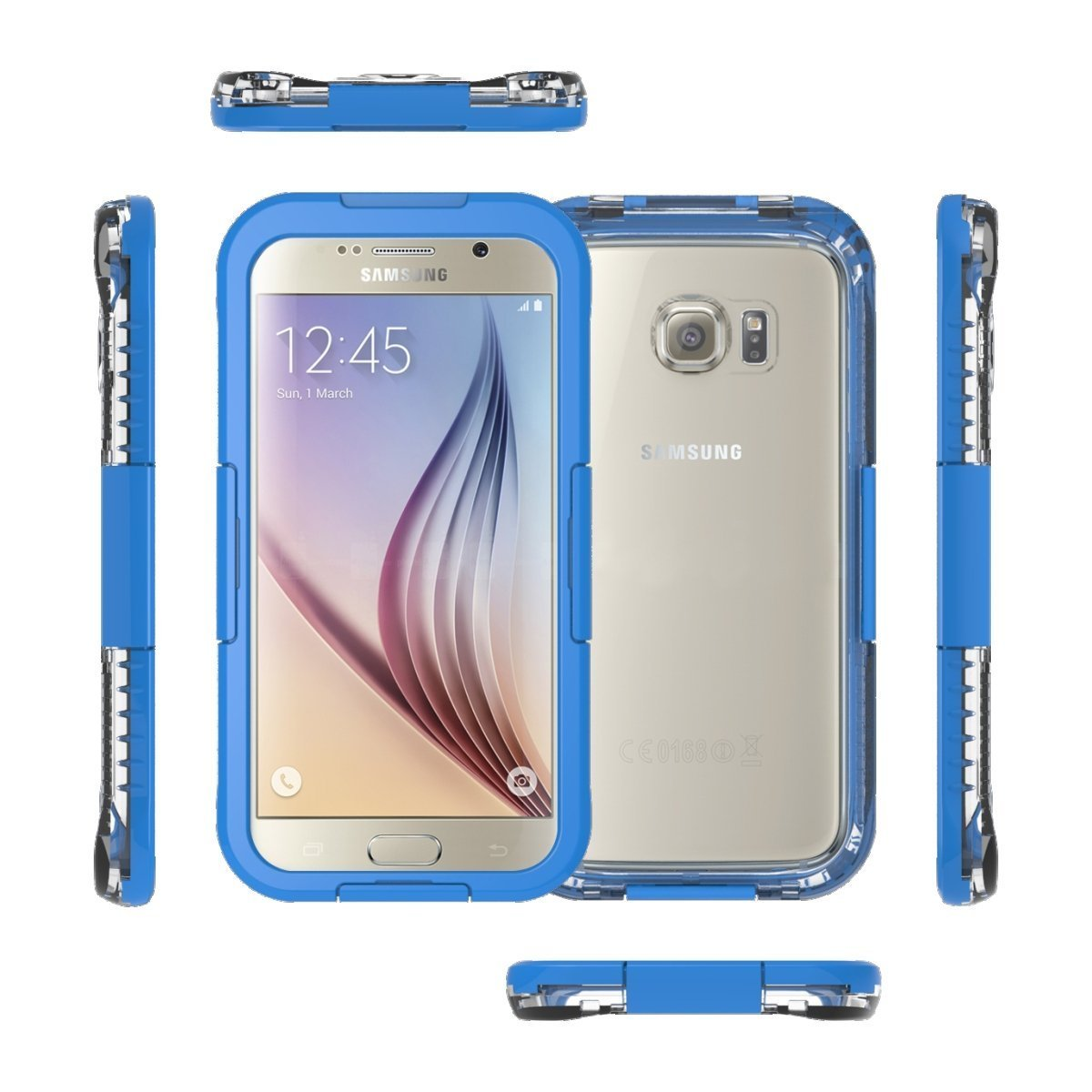 Galaxy S6 Waterproof Case Dust Proof Shock Lifeproof Samsung Fre 77 51242 Black With Touched Transparent Screen Protector Up To 20ft