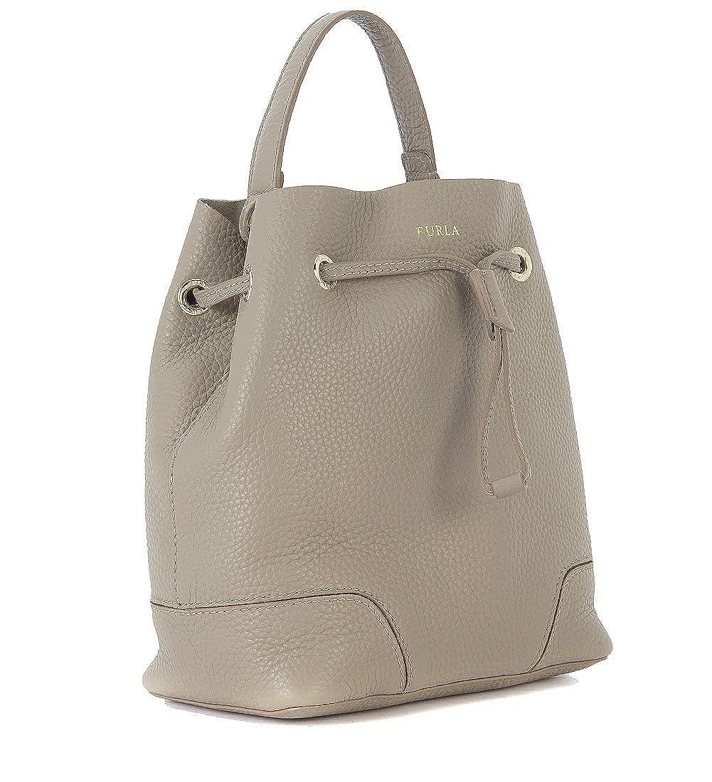ebb95f85cf07 Furla Furla Stacy S Sand Leather Bucket Bag Grey  Amazon.co.uk  Clothing