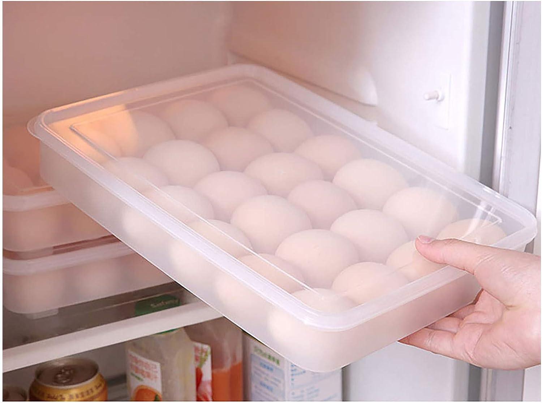 Efanhouy 24/34 Grids Egg Storage Box,Plastic Egg Storage Organizer with Lid Home Food Container Refrigerator Egg Storage Box Household Kitchen Transparent Egg Storage Rack