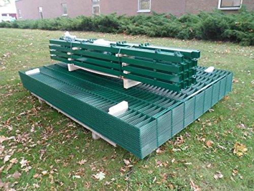 10m Zaunanlage Gartenzaun Zaun 1830mm Doppelstabmatten Verzinkt + Pulverbeschichtet