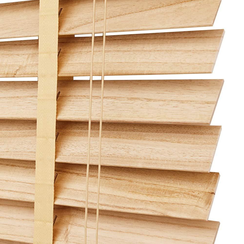 WENZHE すだれ 竹屏幕 竹スクリーン ウッドブラインド 無垢材 シェード 防湿 世帯 スタディルーム、 木の色、 サイズ カスタマイズ (色 : 木の色, サイズ さいず : 110x220cm) 110x220cm 木の色 B07PBH8GS1