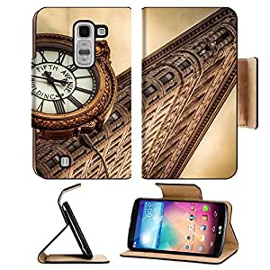 Architecture Clocks New York City Cities LG G Pro 2 Flip Case Stand Magnetic Cover Open Ports Customized Made to Order Support Ready Premium Deluxe Pu Leather MSD cover Professional Cases Accessories Graphic Background Covers Designed Model Folio Sleeve H