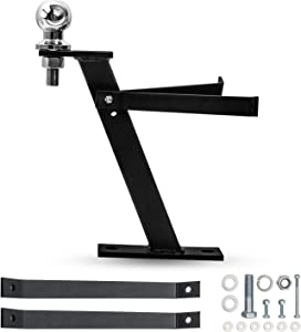 Tepeng Trailer Hitch with Trailer Hitch Ball Aluminum Compatible with Lawn Mower, Garden Lawn Tractor Hitch