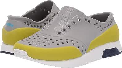Native Kids Shoes Unisex Lennox Color Block Toddler//Little Kid Pigeon Grey//Shell White//Regatta Blue//Glo Green Glow Block 4 M US Toddler