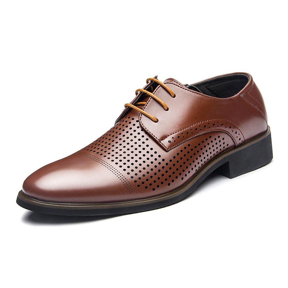 Lederschuhe Herren Lederschuhe Business PU Glatt Lace up Oxfords (Atmungsaktiv Loch Optional) Breathable Brown
