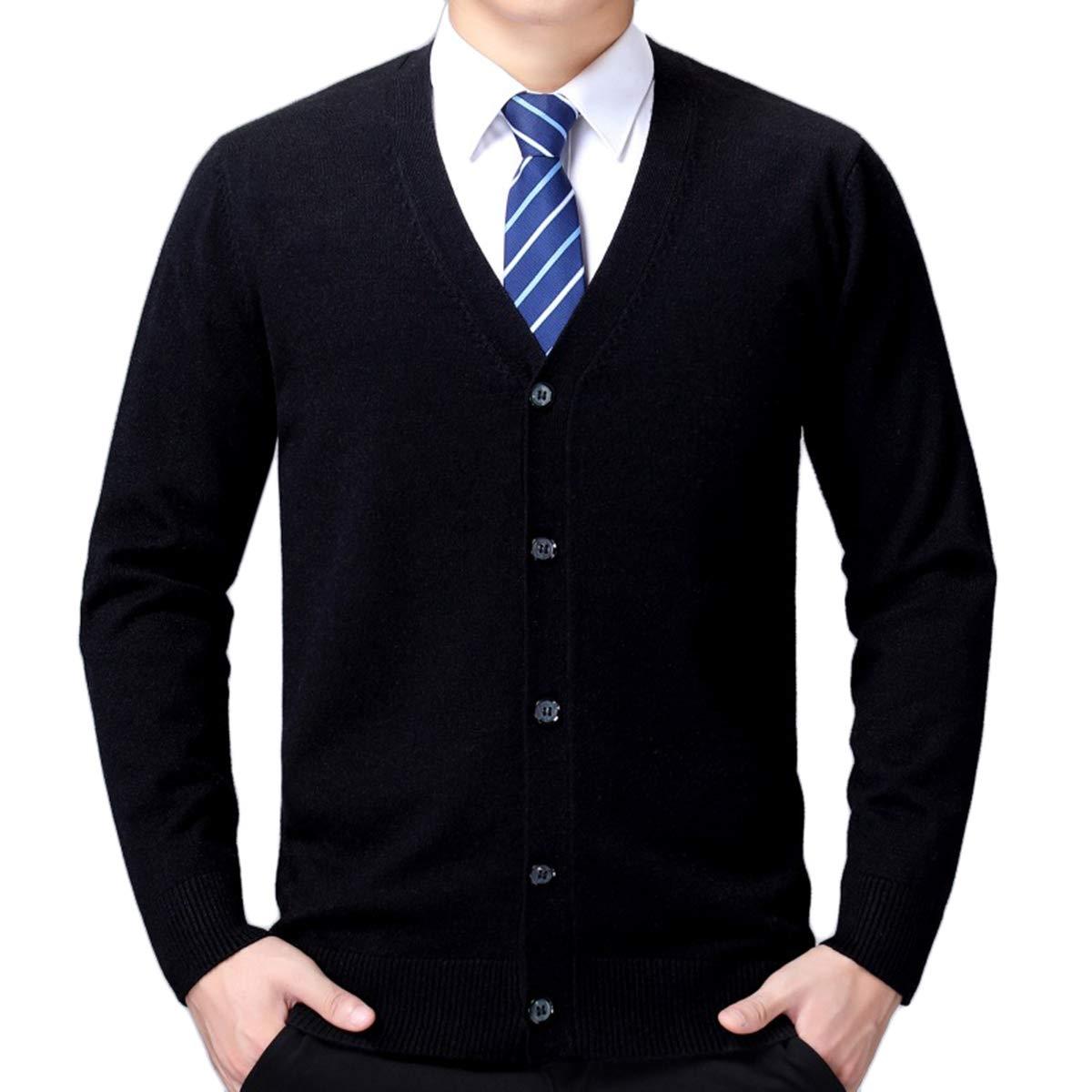 Moda di Cardigan Stile Classico V-Neck Men Bottone Business Casual Lana Camicia Cardigan