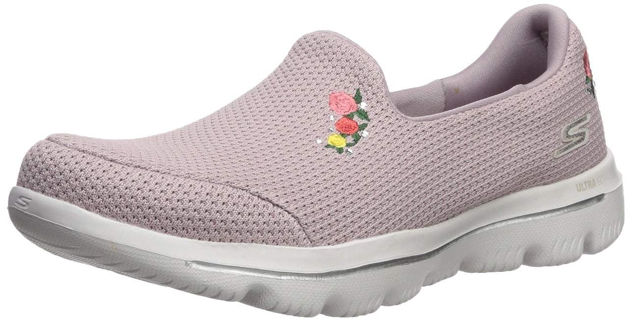 Light Pink Skechers Womens Go Walk Evolution Ultra - Satisfaction Sneaker