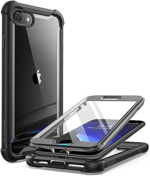 Armure Coque iPhone 7 Bo/îtier PC iPhone 8 TPU Double Layer Housse r/ésistant aux Chocs avec Support /à Anneau Rotatif /à 360 degr/és (Argent)