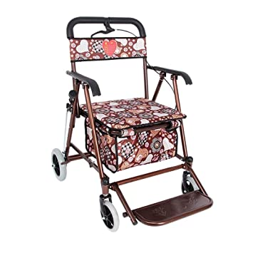 Amazon.com: Andador ligero plegable de cuatro ruedas con ...