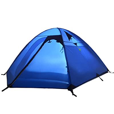 2 Personne Double Couche Camping étanche Backpacking Tent,Blue