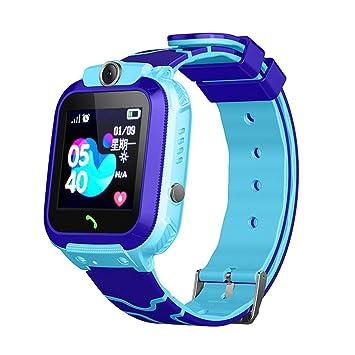 Tomasa Ocalizador GPS Niños, Reloj GPS Niños Localizador con SOS Anti-Lost Alarm para Tarjeta Pantalla Táctil Smartwatch para 3-12 Años De Edad Regalo ...