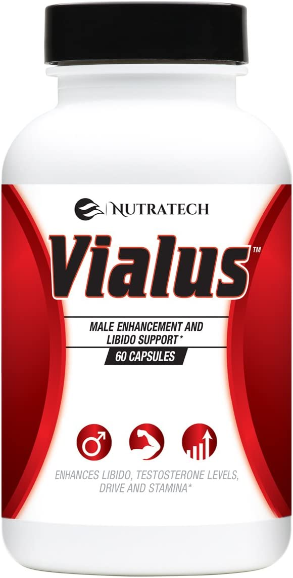 Vialus -Male Testosterone and Performance Booster to Improve Size, Stamina, Energy. Fast Acting Enhancement Formula with Horny Goat Weed, Saw Palmetto, and More. Alternative to Prescription Pills