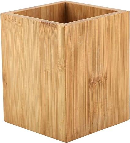 Caja de almacenamiento de bambú, para bolígrafos oficina escuela ...