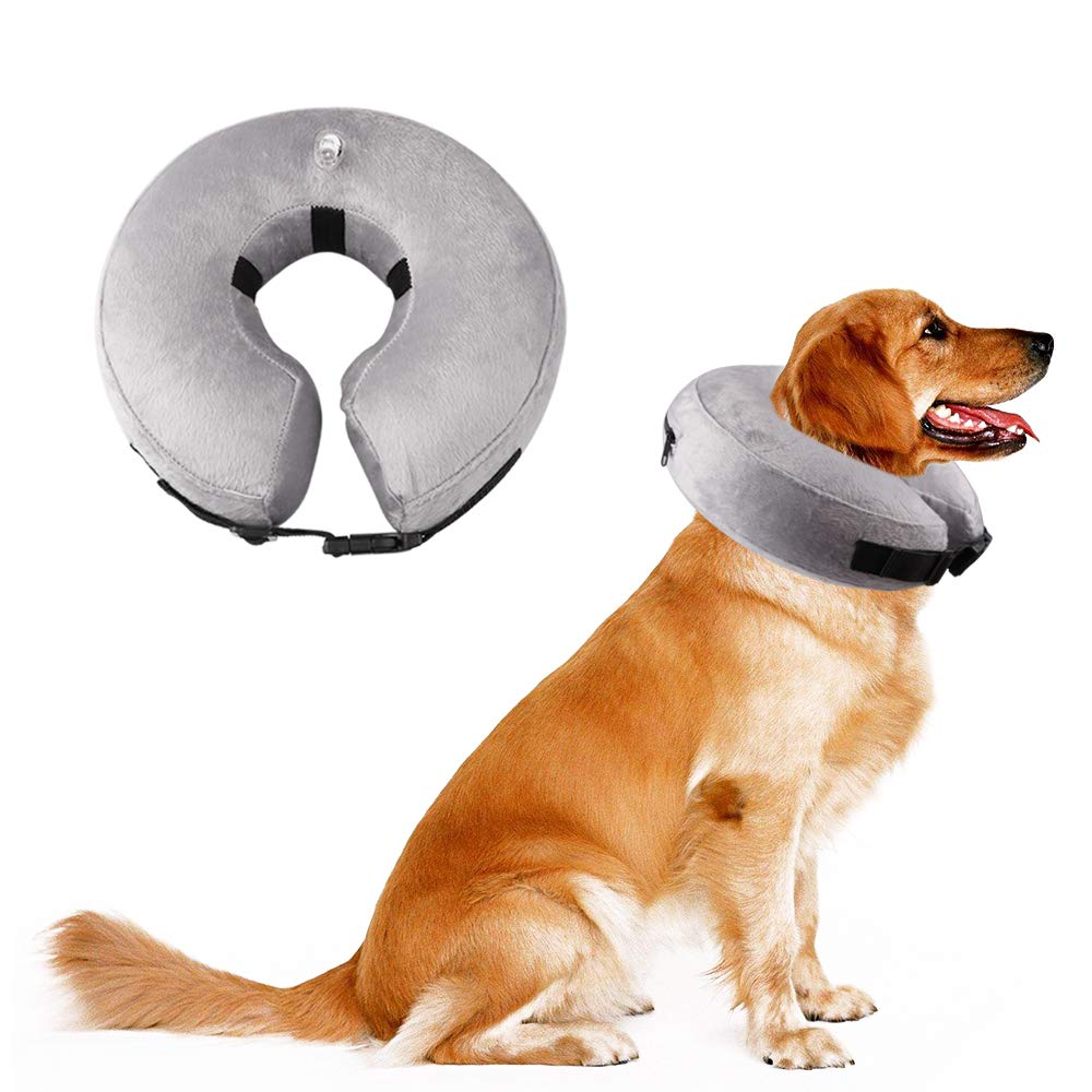 LOKDJ Dog Cone, Inflatable Collar for Dogs and Cats, Adjustable Soft Pet Recovery E
