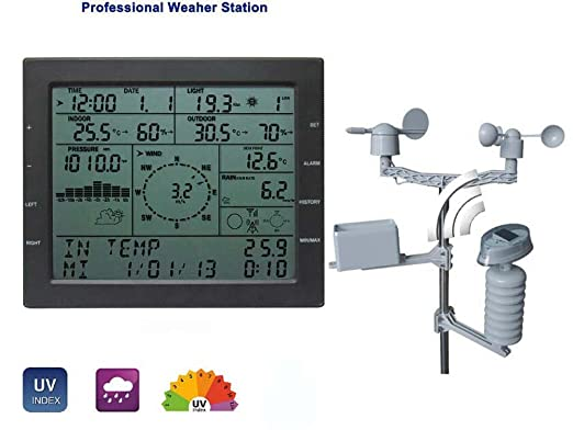 2 opinioni per MISOL / professional weather station / wind speed wind direction rain meter
