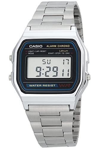 Casio A158 Reloj Digital Plata