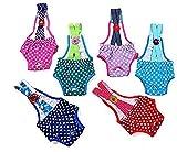 Fashion Shop 2pcsx Colorful/Comfortable/Cosy Pet Dog Cotton Tighten Strap Sanitary Physiological Pants Pet Underwear Diapers,Random Color (#16 waist 43-46cm)