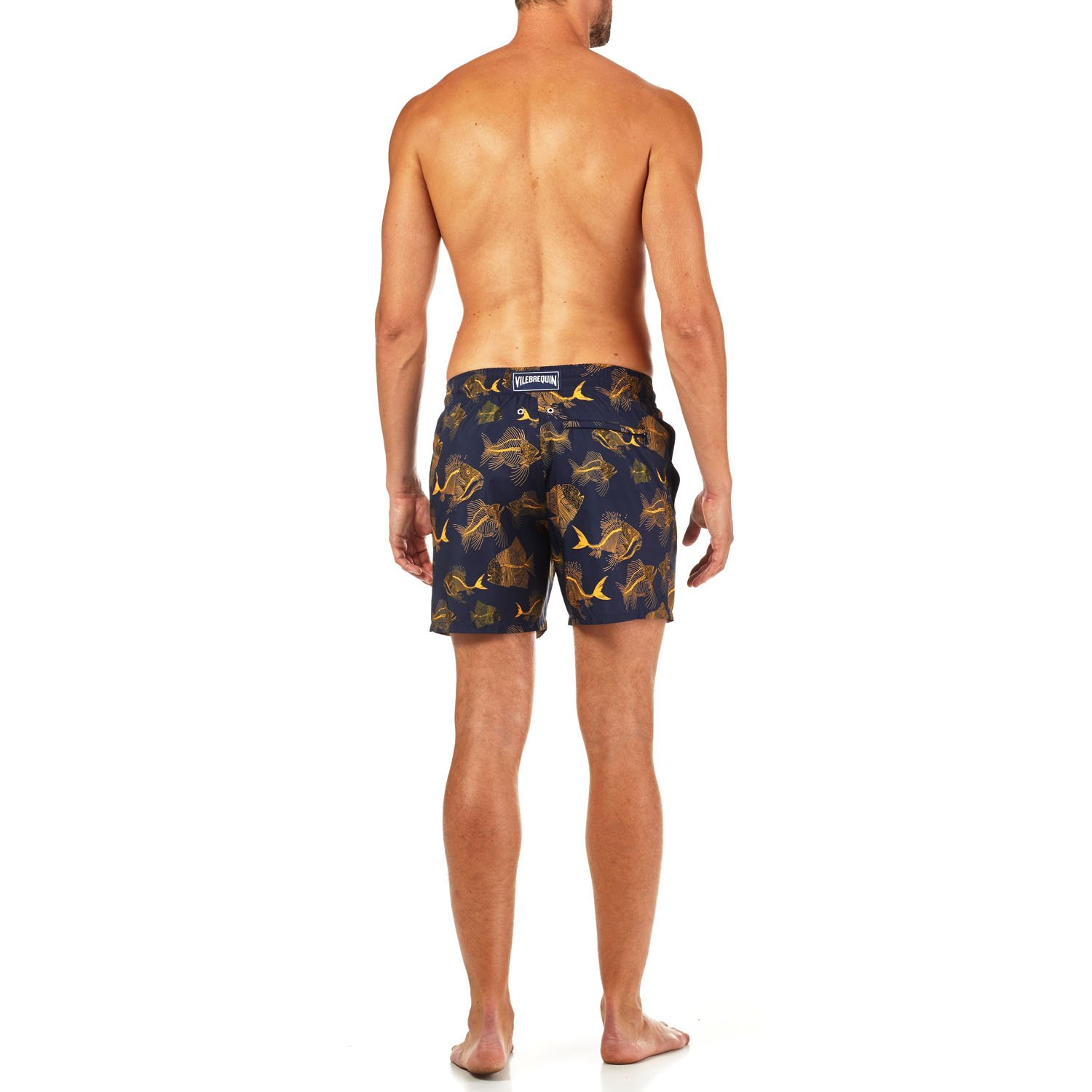 6418fd5fca Vilebrequin - Fishes Cube Swim Shorts (M, Navy): Amazon.co.uk: Clothing