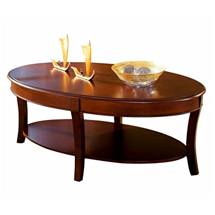 Oval Coffee Table With Shelf.Amazon Com Oval Coffee Table Wood With Shelf For Storage Accent