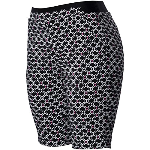 EP Pro Womens Scroll Print Pull On Shorts Black/White M
